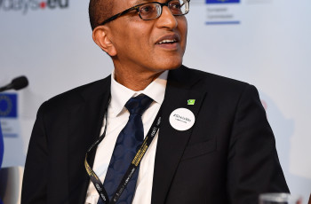 Michael Hailu joined high-level discussions on women's empowerment in agriculture at the EDDs © CTA