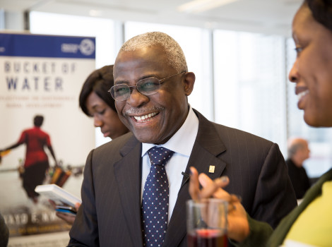 Dr Kanayo Nwanze is President of IFAD and dedicated to eradicating poverty and hunger in developing countries © Iona Wolff for Warwick in London