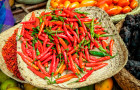 In Rwanda, farmers are supplying Urwibutso Enterprise with chili for processing into chili pepper oil for global export © Zoonar GmbH/Alamy Stock Photo