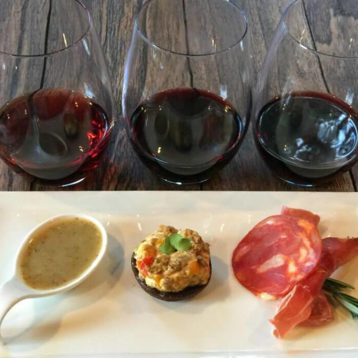 House Wine Austin bar wine glass food pairings plate 2015