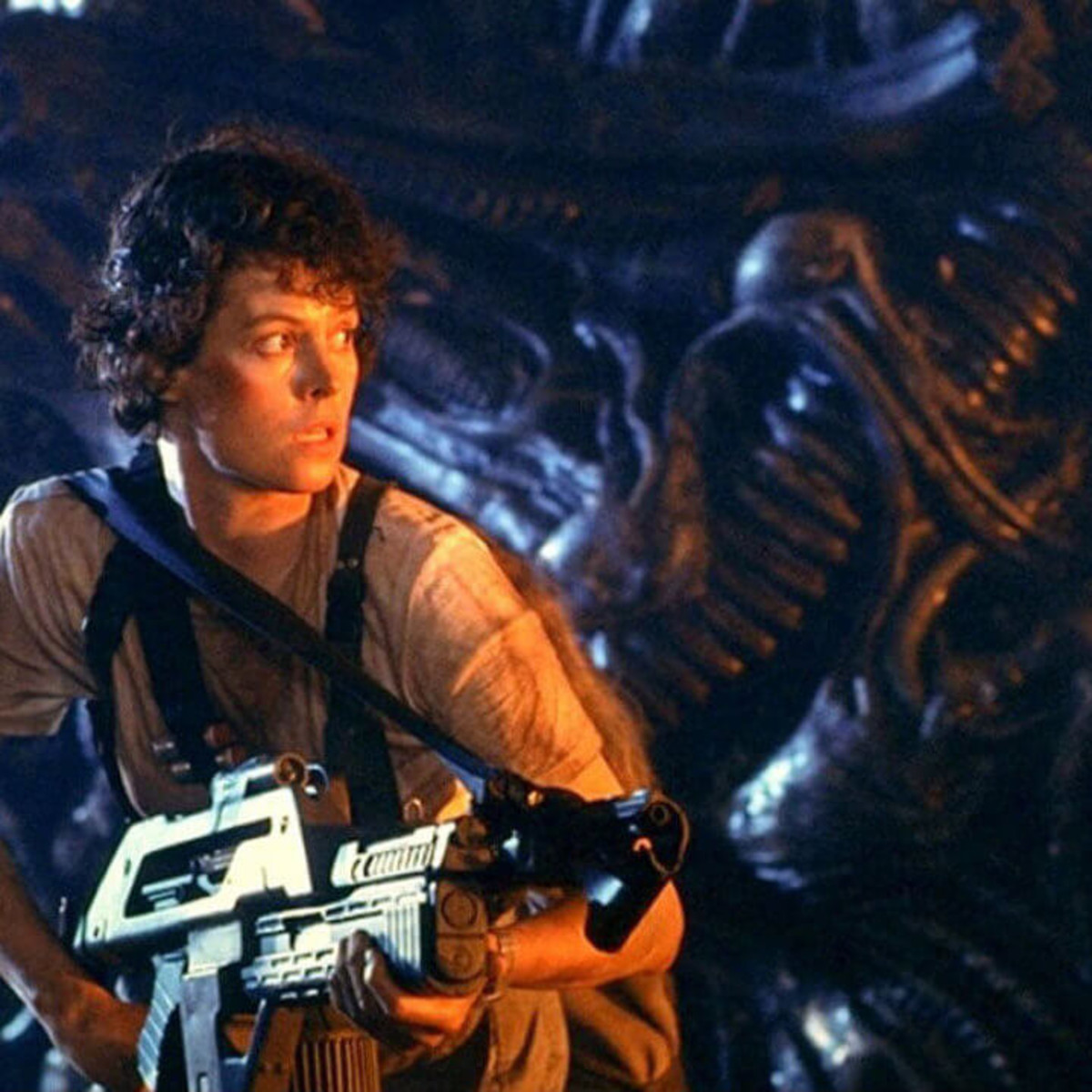Sigourney Weaver as Ellen Ripley in Aliens