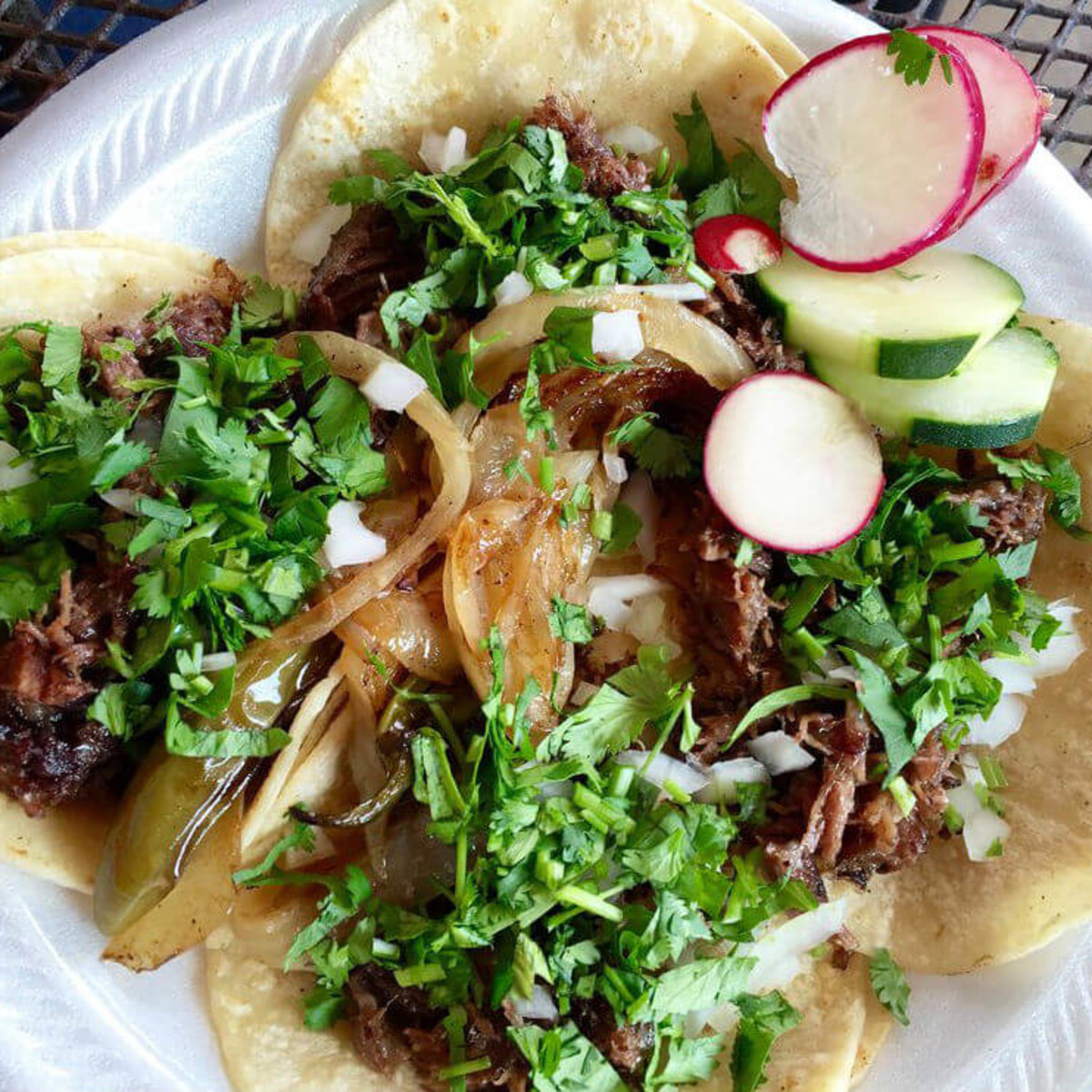Erick's Tacos barbacoa mini taco plate