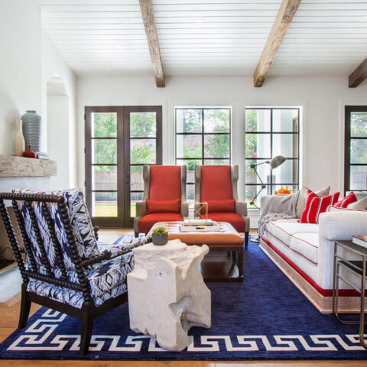 Houzz Houston house home Southern Americana Spanish colonial June 2016 living room