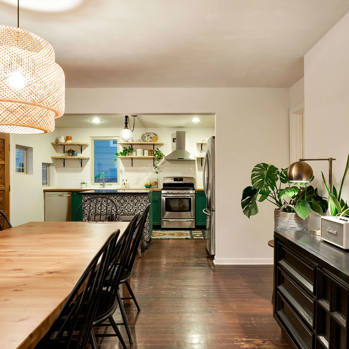 East Austin house home 1131 Poquito Street 78702 dining room kitchen