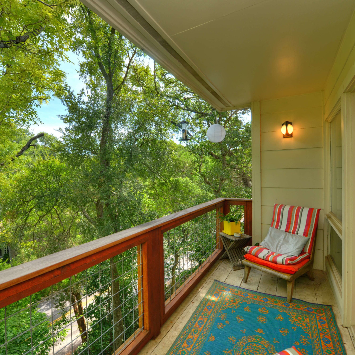 Austin home house 5932 Highland Hills Dr 78731 balcony