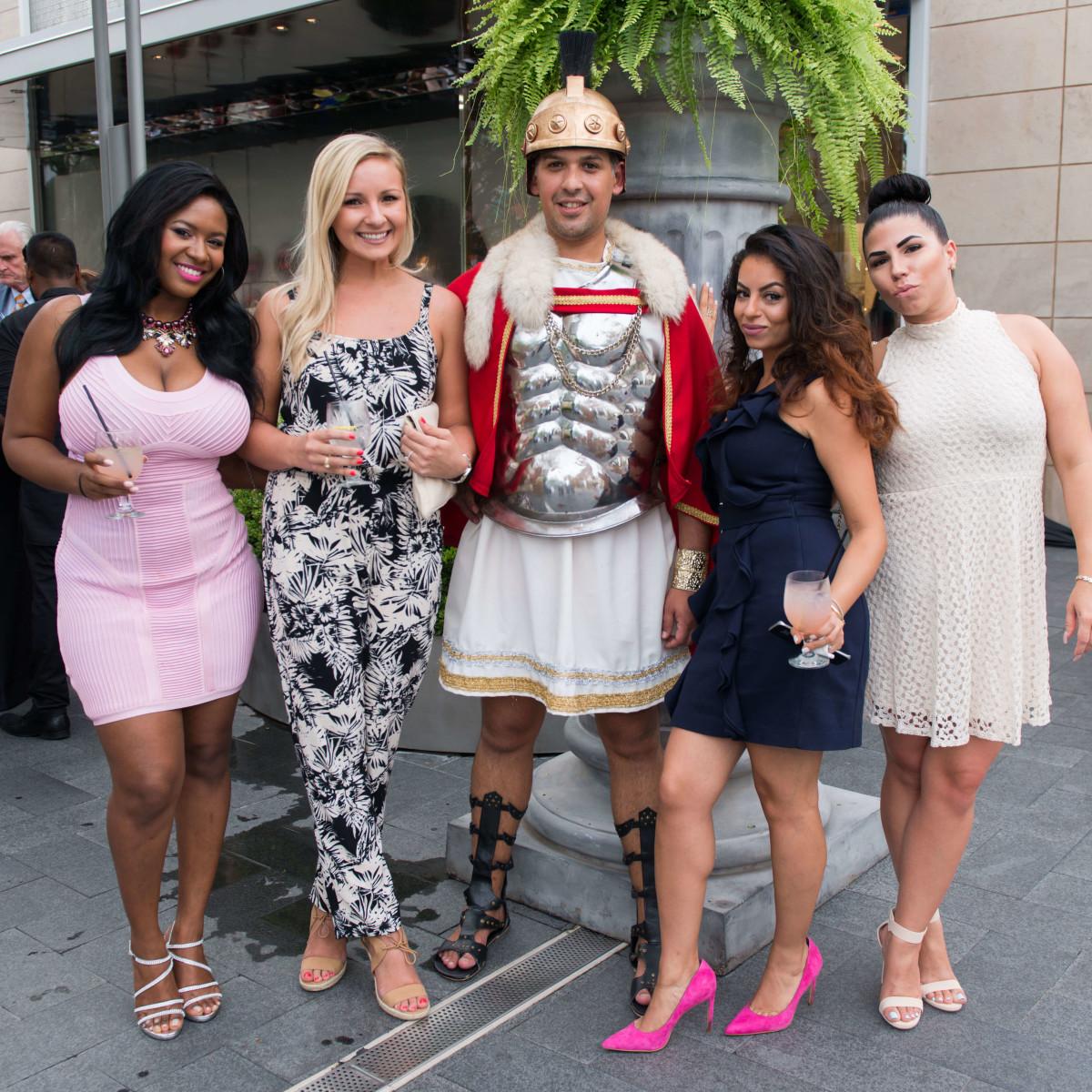 Ben-Hur premiere, Aug. 2016, Atia Willis, Kyle Hassenmiller, Christopher Marquez, Katie Naciri, Ashley Zeigler