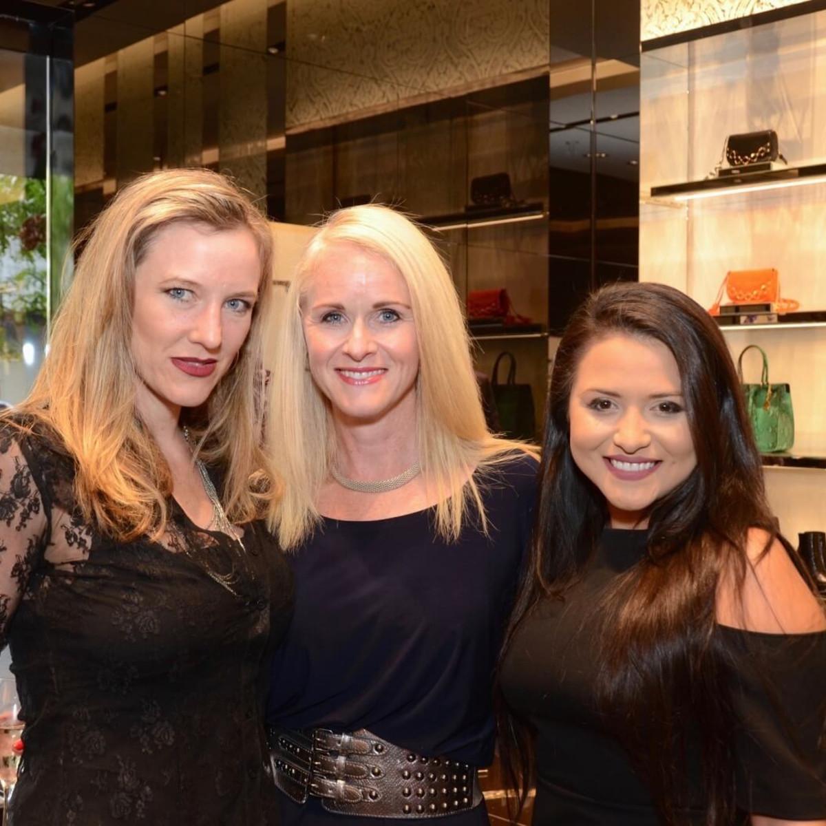 Noche de las Americas kick-off, Aug. 2016,Sally Lechin, Christine Tabrizi, Daisy Mendoza