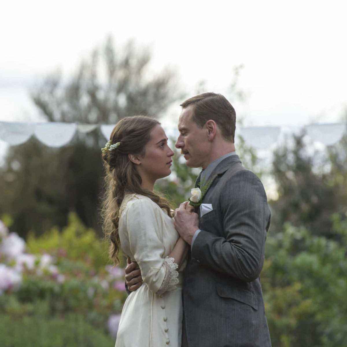 Alicia Vikander and Michael Fassbender in The Light Between Oceans