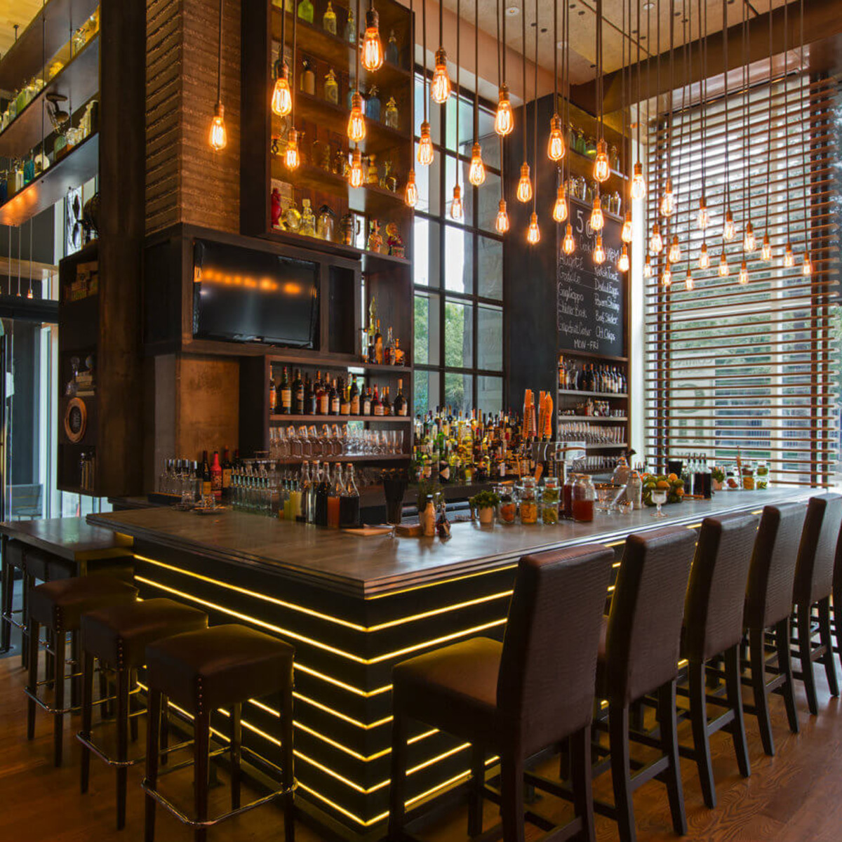 Bar at Cook Hall restaurant in Dallas