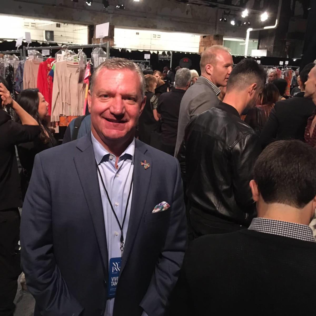 Mike Waterman Visit Houston CEO at Vivienne Tam show