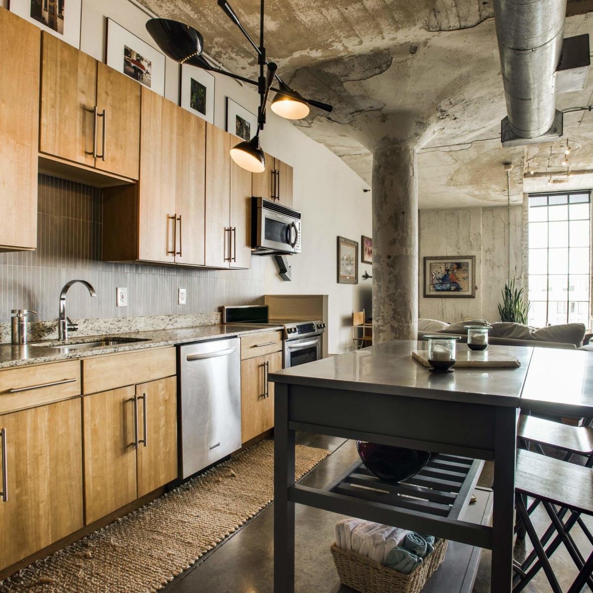 Kitchen at 1122 Jackson St. in Dallas
