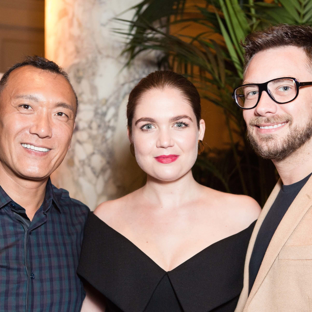 Joe Zee, Elizabeth Kennedy, Rob Younkers at Plaza Palm Court