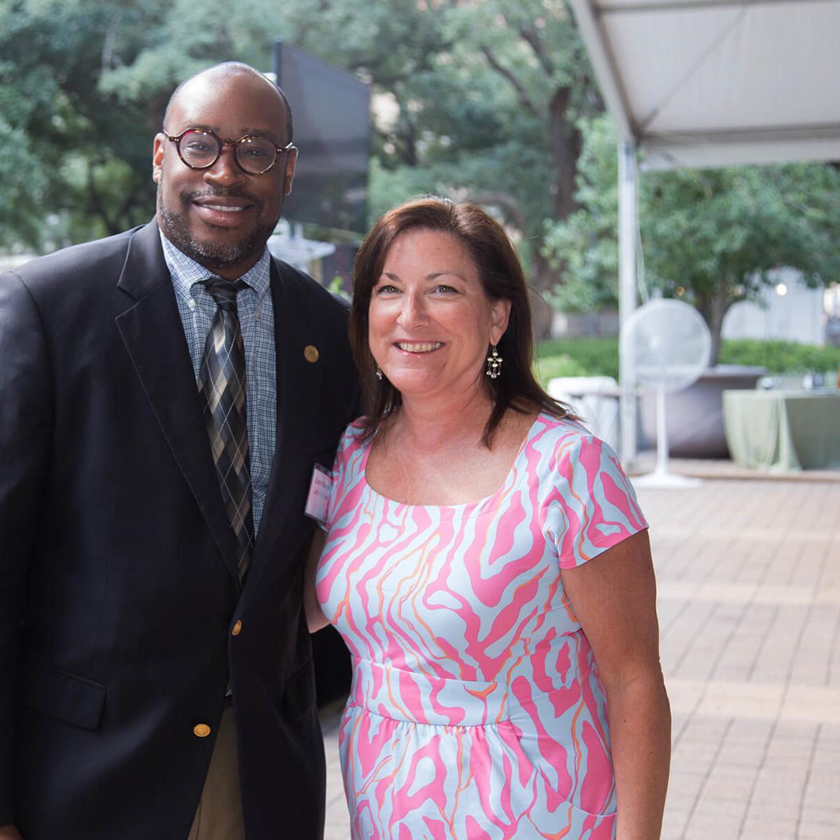 Houston Parks Board luncheon Larry V. Green, Lisa Johnson
