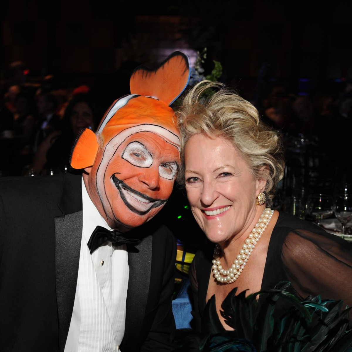 Don Nelson, Margaret O'Brien-Molina at Boo Ball