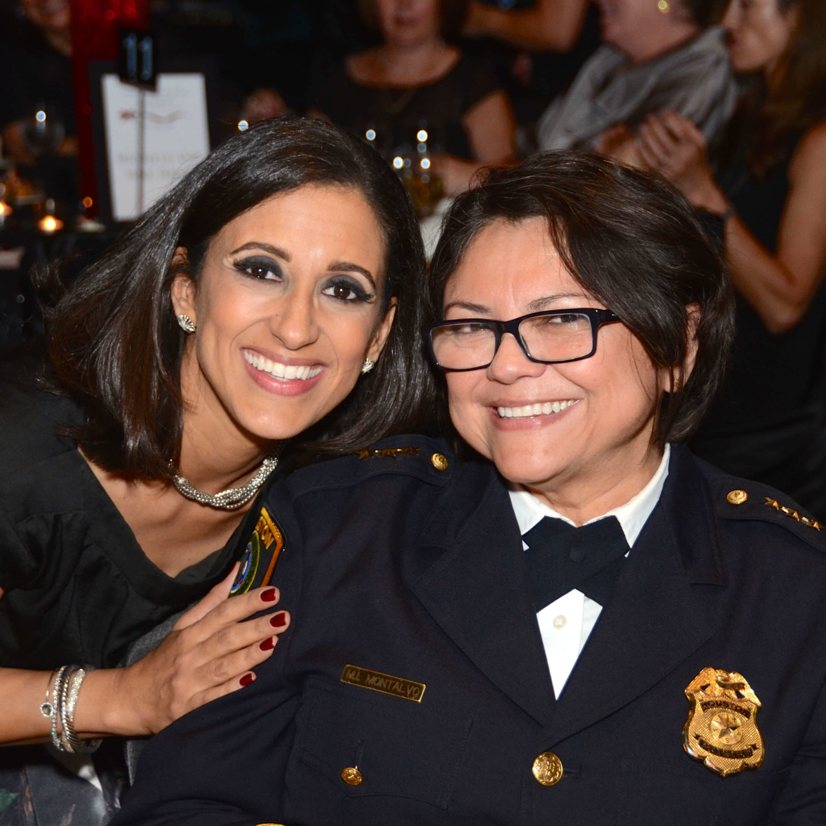 Houston, Crime Stoppers of Houston gala, Nov. 2016, Rania Mankarious, Houston Police Department Acting Chief Martha Montalvo