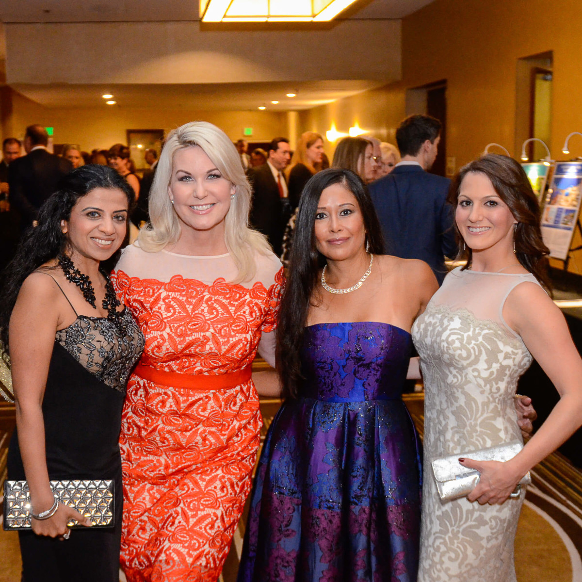 Houston, Crime Stoppers of Houston gala, Nov. 2016, Farida Abjani, Stephanie Von Stein, Melissa Rascon, Amanda Wilkinson
