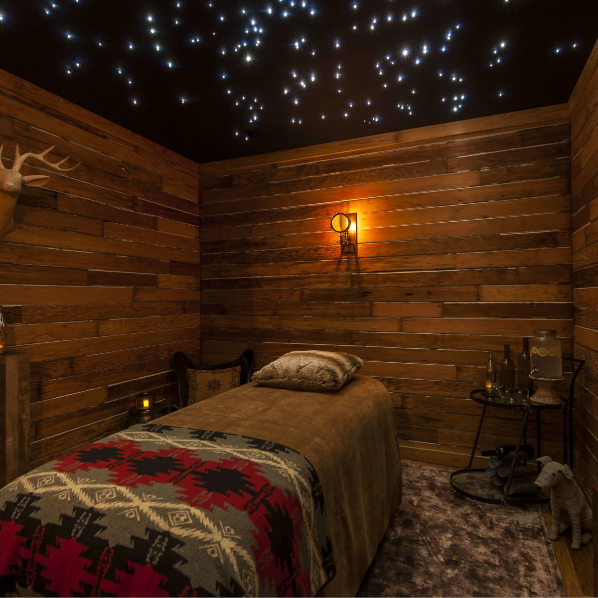 Western sky treatment room at Travaasa Austin spa
