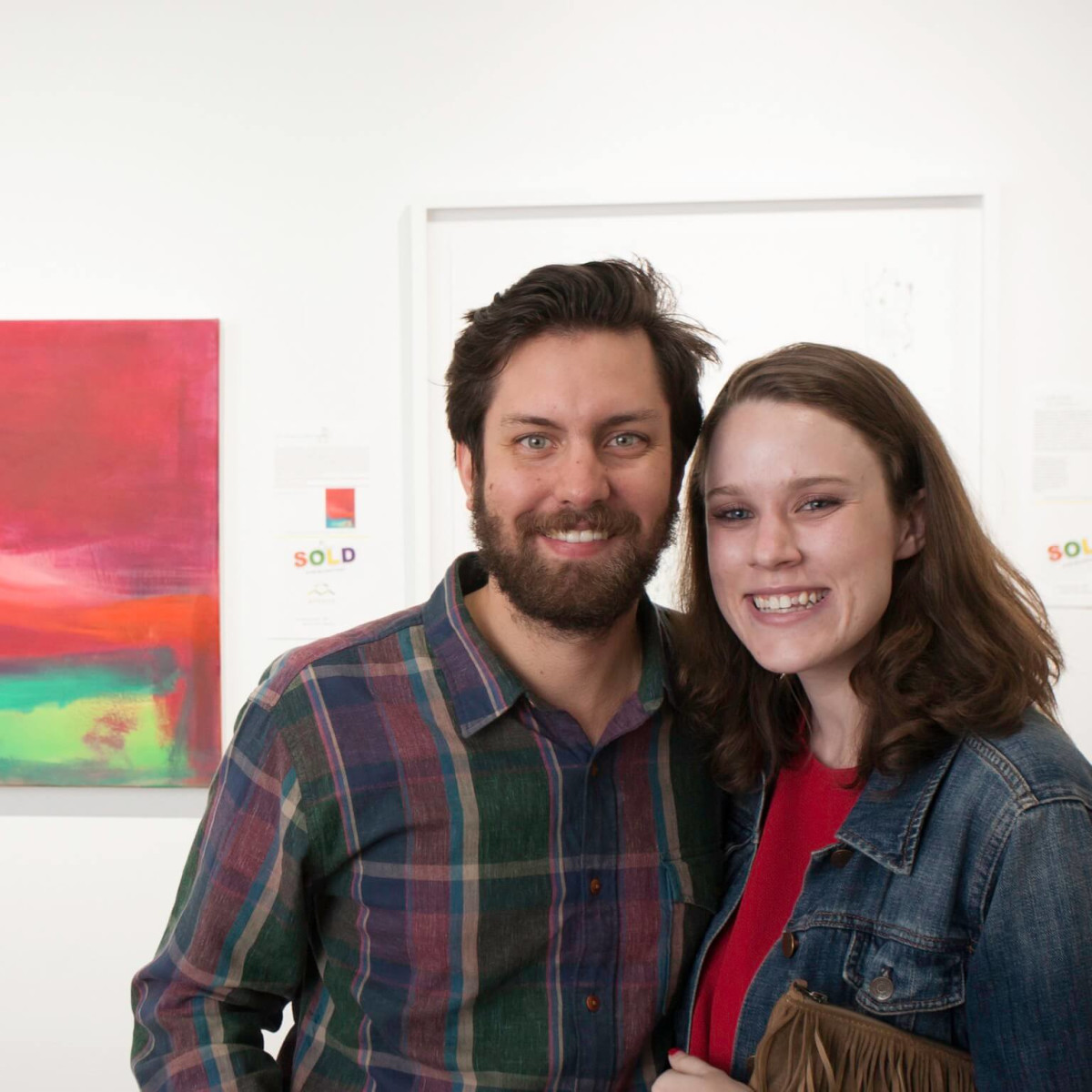 Justin and Julianne Hickey at Art on the Avenue Preview Party
