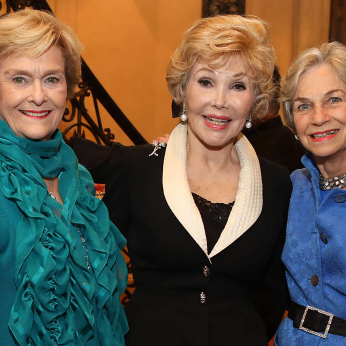 Houston, Barbara Bush Literacy Foundation Guild Tea, Nov. 2016, Annette Strake, Joanne King Herring, Anne Mendelsohn