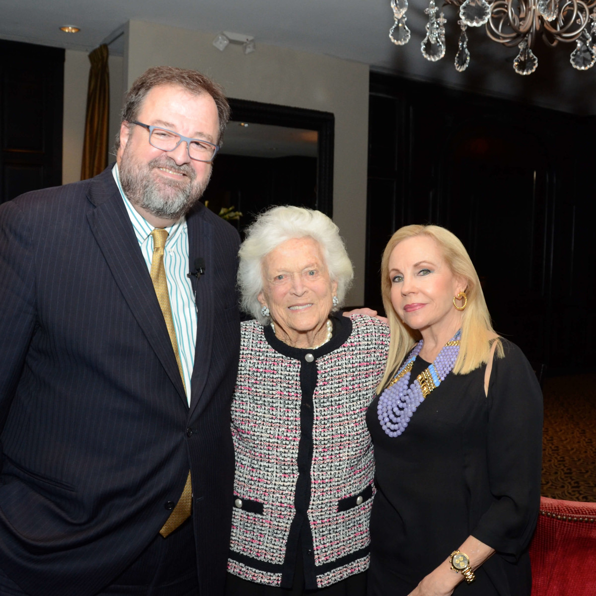 Houston, Children at Risk Accolades luncheon, Nov. 2016, Dr. Bob Sanborn, Barbara Bush, Carolyn Farb