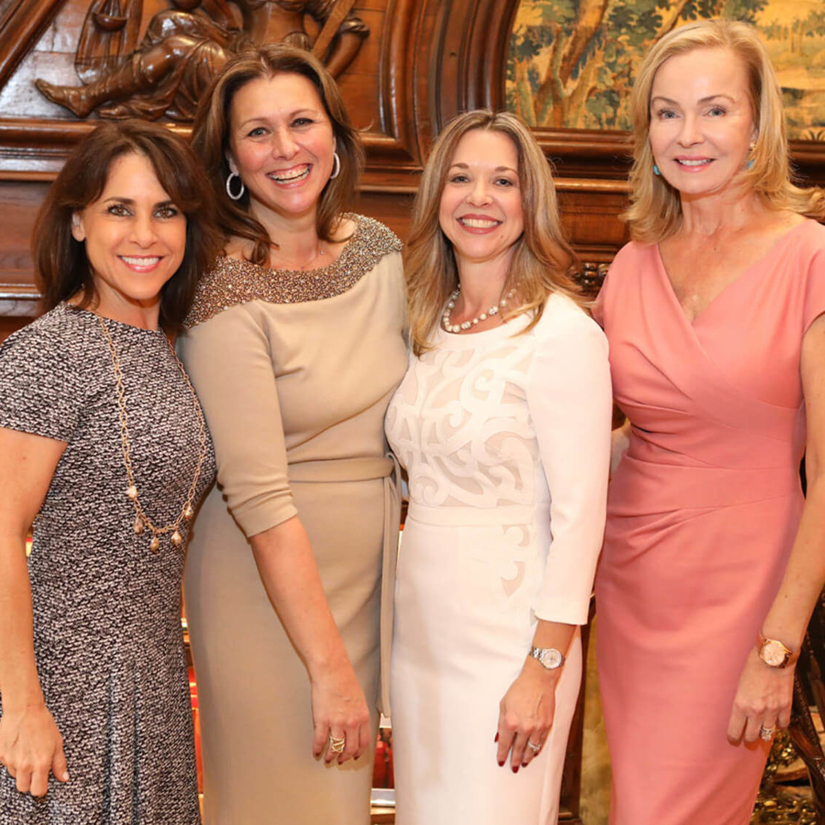 Houston, Barbara Bush Literacy Foundation Guild Tea, Nov. 2016, Maria Bush, Donatella Benckenstein, Julie Baker Finck, Alice Mosing