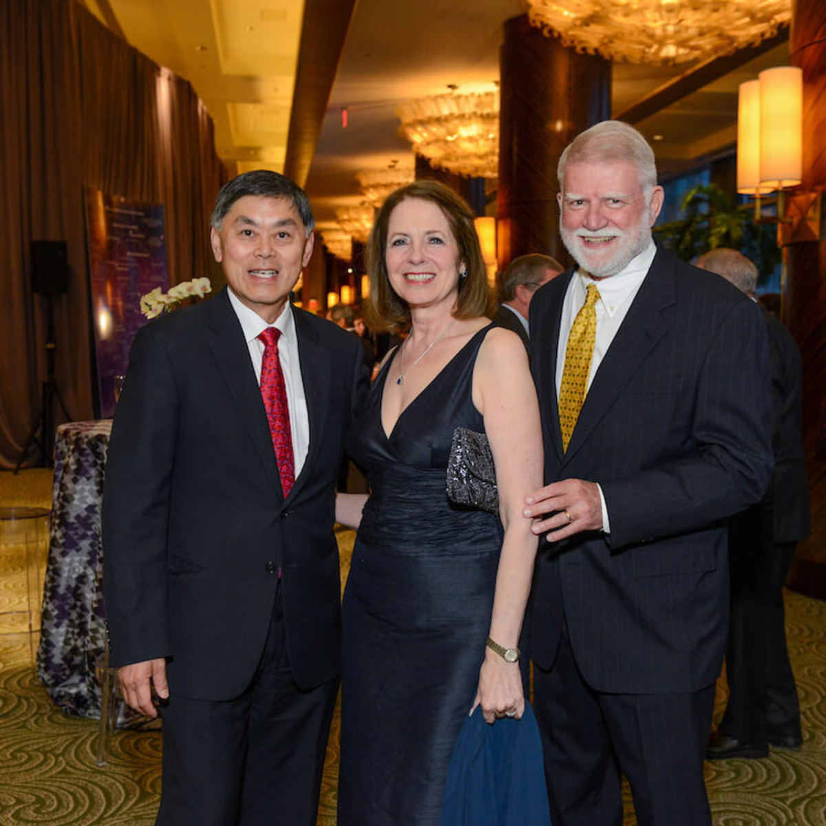 Dr. Benjamin Chu, Deborah Cannon, Gardner Cannon at UTHealth Constellation Gala