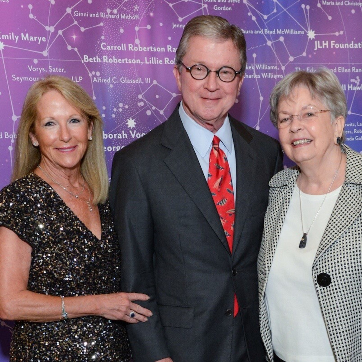 Kathy O'Neil, Phil Ferguson, Kathrine McGovern at UTHealth Constellation Gala