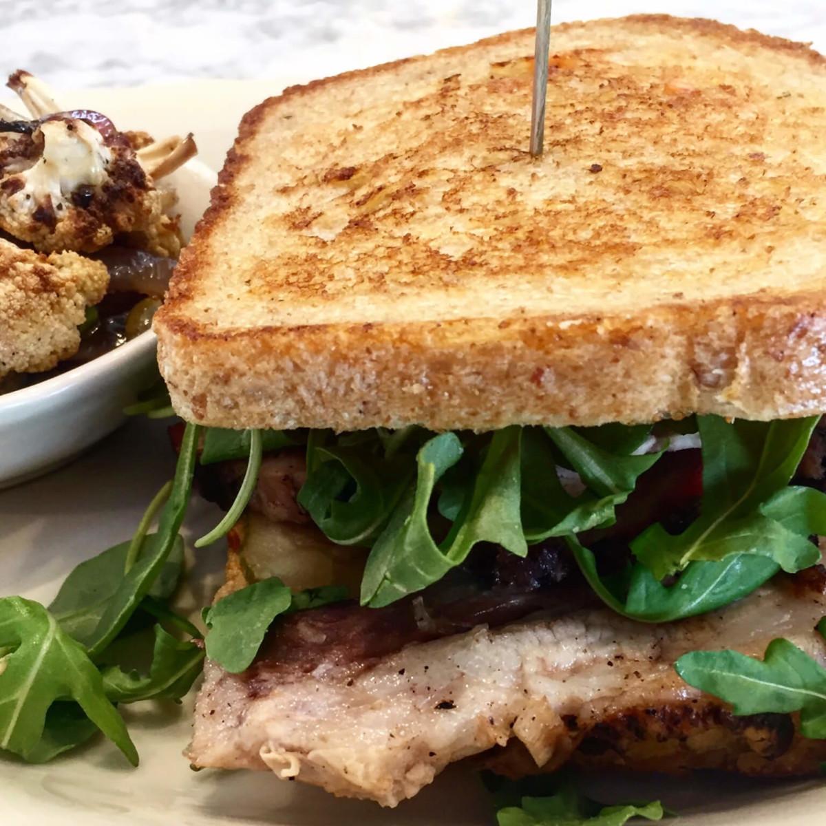 Relish restaurant pork sandwich