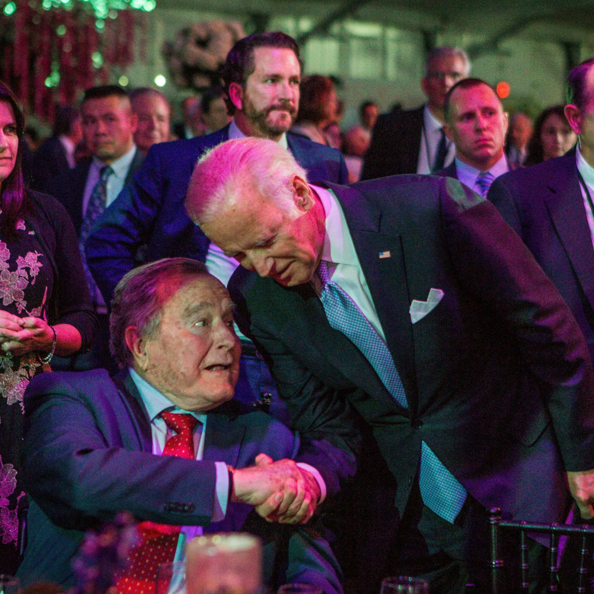 Joe Biden, George HW Bush at MD Anderson Gala