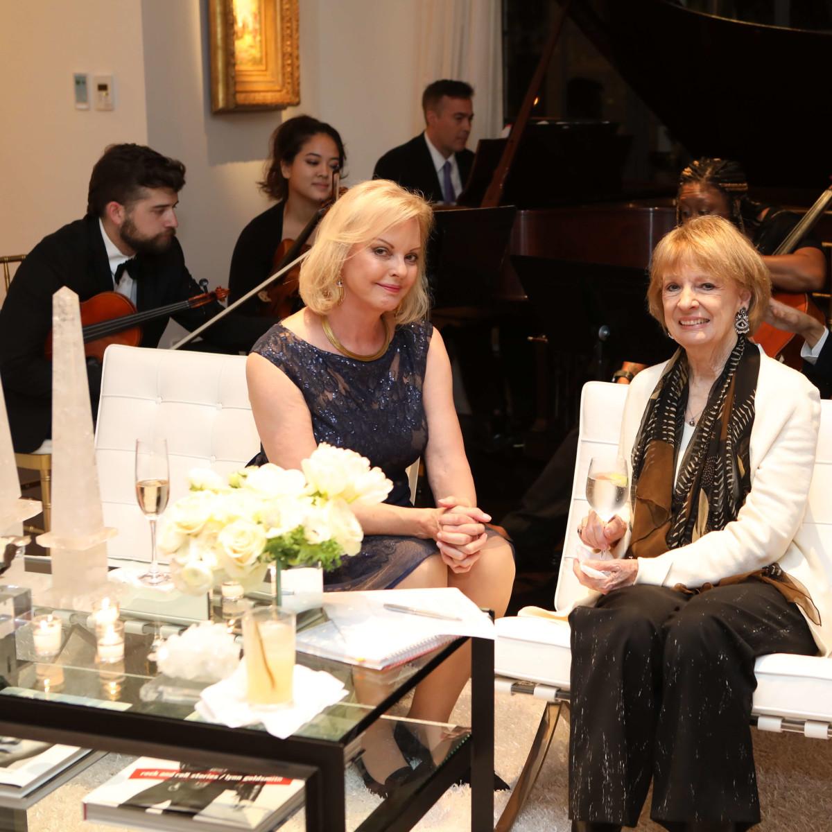 Houston, Cynthia and Anthony Petrello cocktail reception for Tommy Tune, Nov. 2016, Karen Bradshaw, Sandy Godfrey