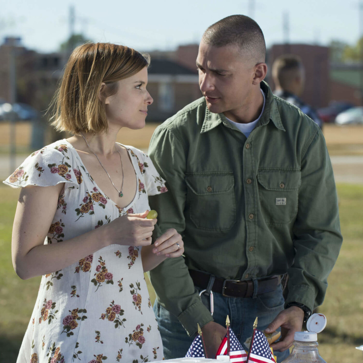 Kate Mara and Shia LaBeouf in Man Down