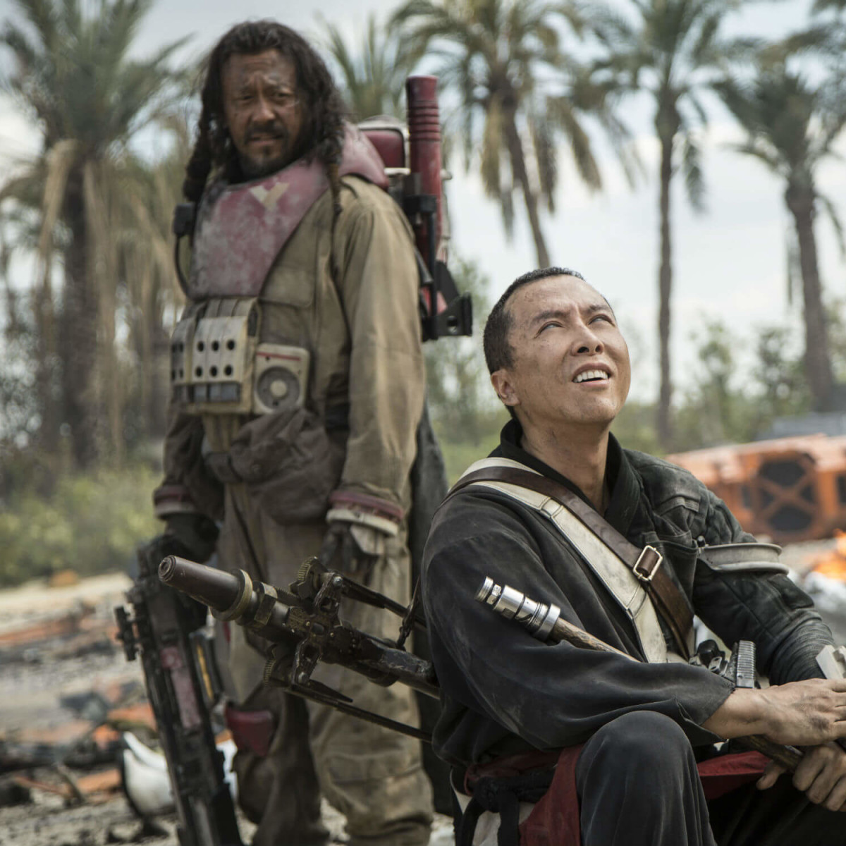 Wen Jiang and Donnie Yen in Rogue One: A Star Wars Story
