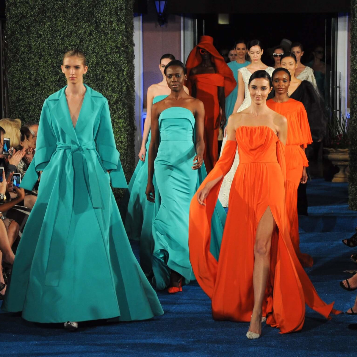 Christian Siriano runway show at Elizabeth Anthony