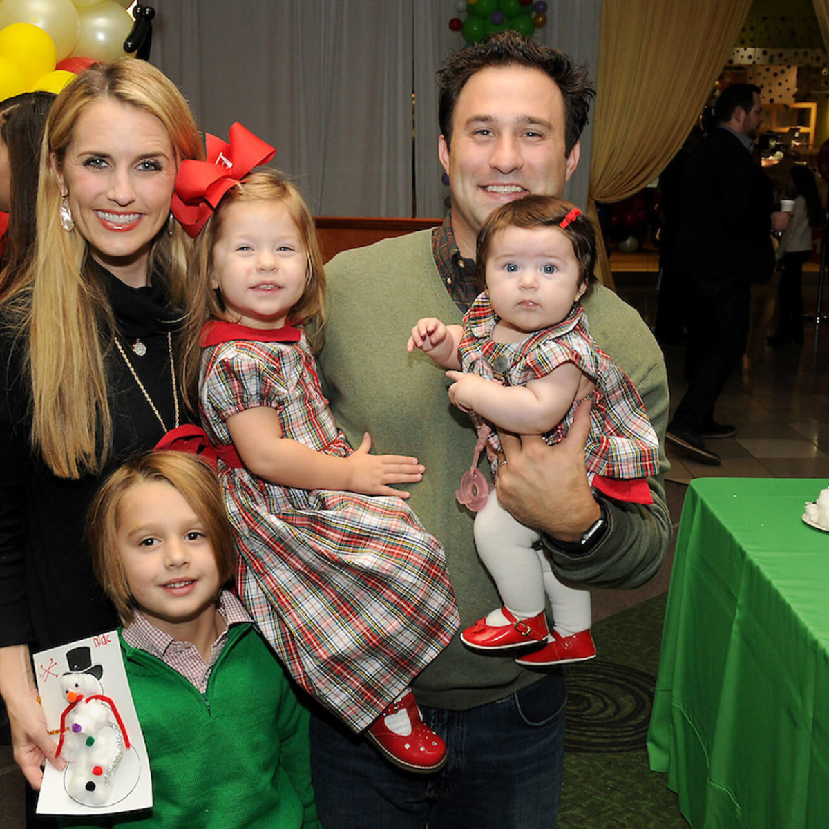 Houston, M.D. Anderson Breakfast with Santa, Dec 2016, Laine Santamaria, Mac Santamaria, Edie Santamaria, David Santamaria, Annie Santamaria