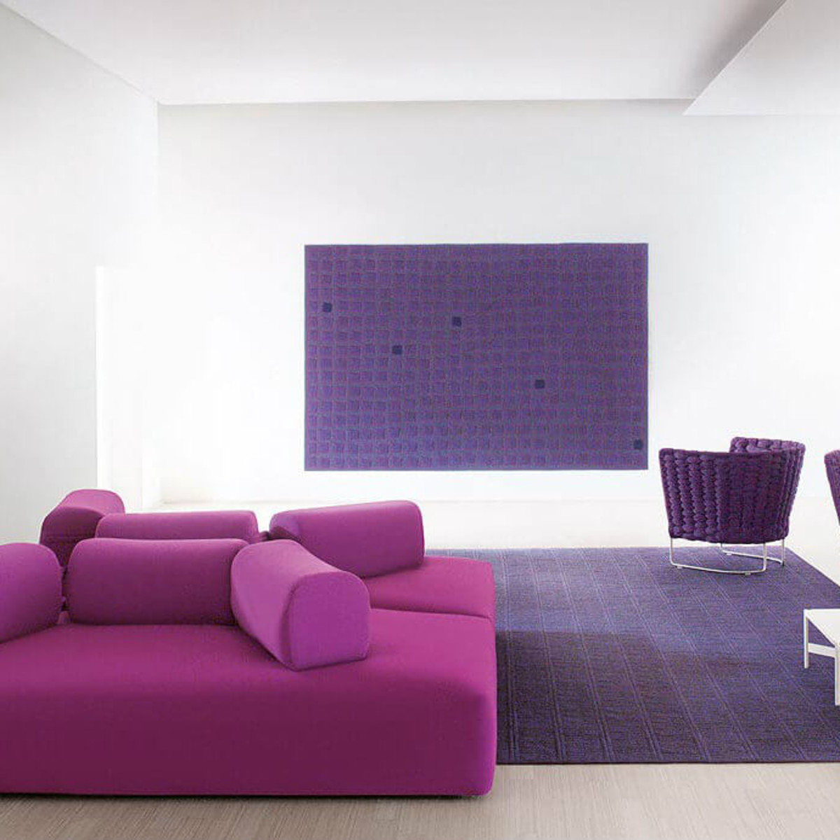 Purple Fendi furniture