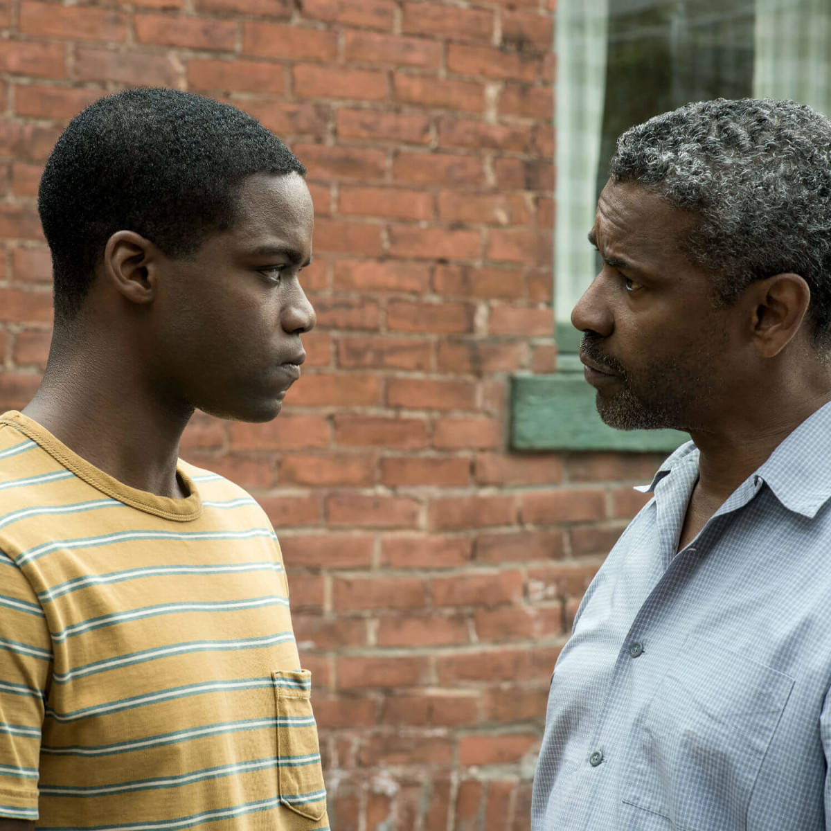 Troy Maxson and Denzel Washington in Fences