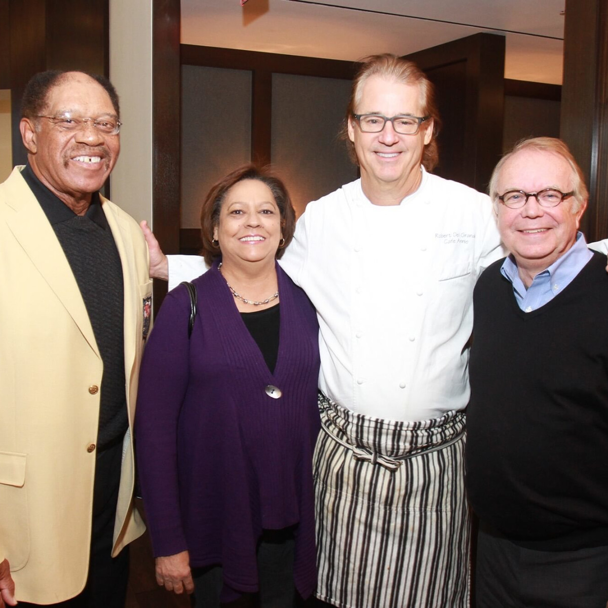 Taste of NFL brunch preview, Elvin Bethea, Pat Bethea, Cafe Annie chef Robert Del Grande, Wayne Kostroski.