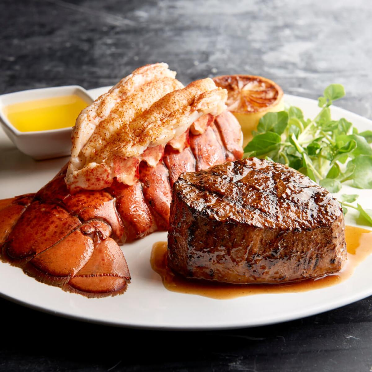 Houston_Mortons Steakhouse_filet mignon and lobster tail_Dec 2016
