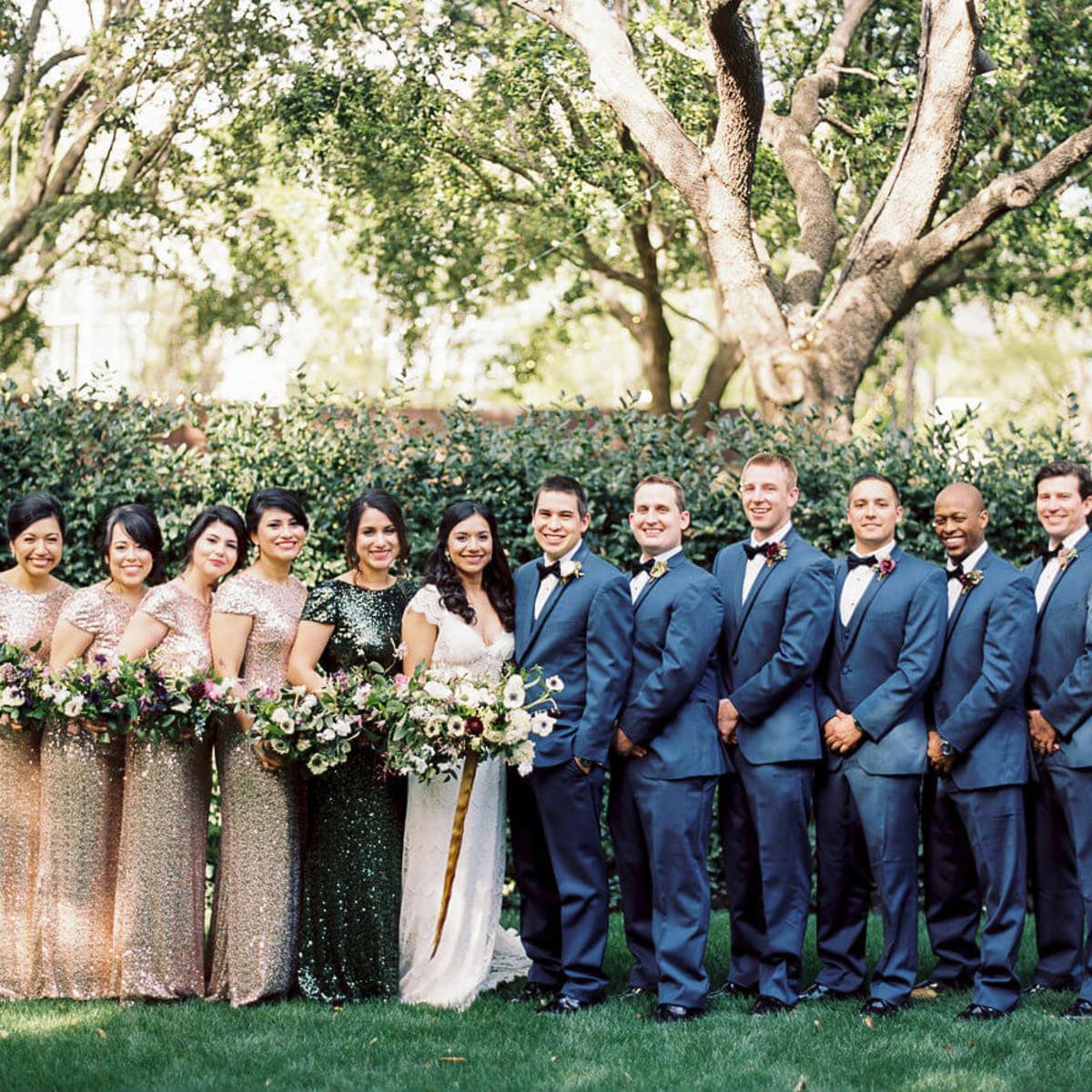 Jared + Diana bridal party
