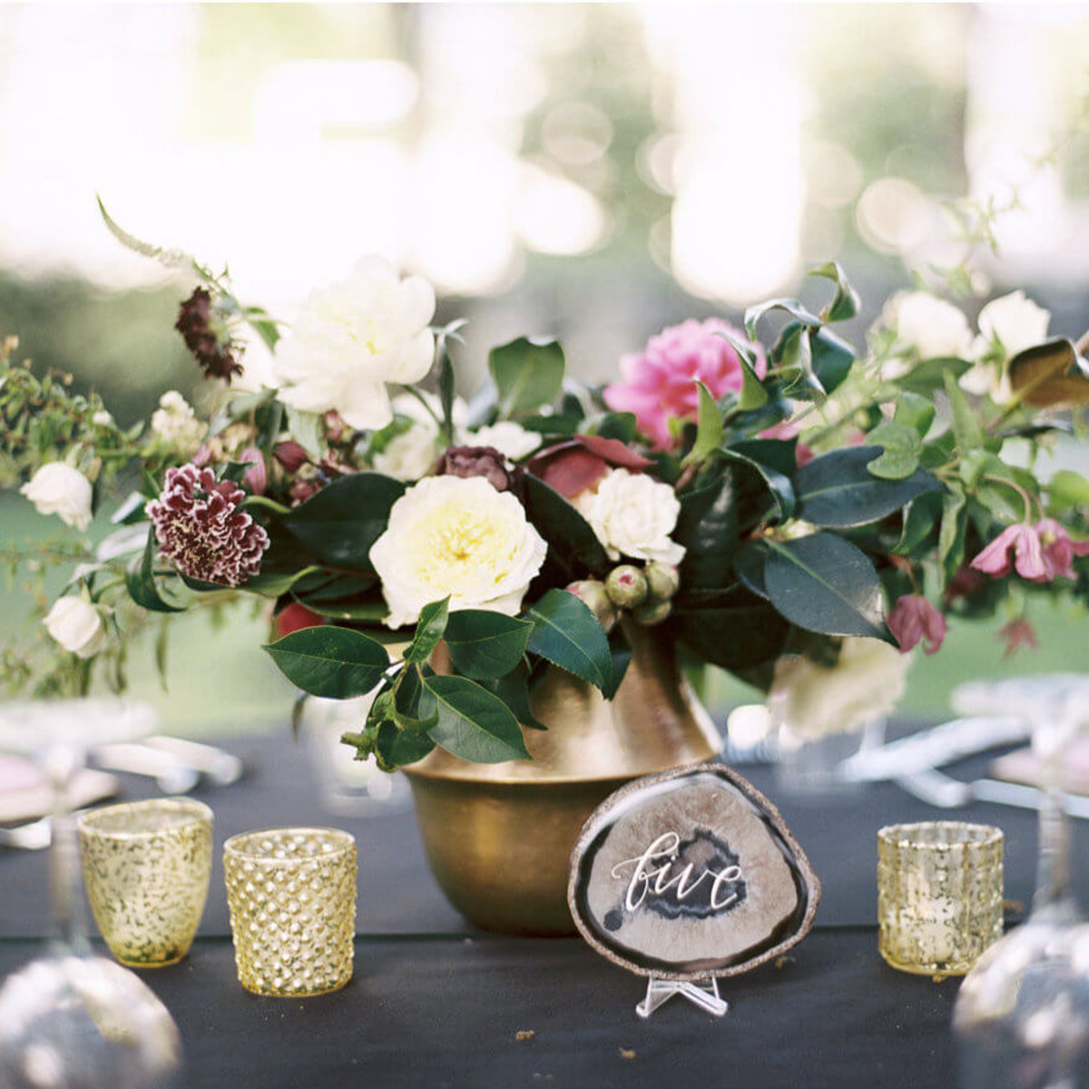 Jared + Diana tablescape detail