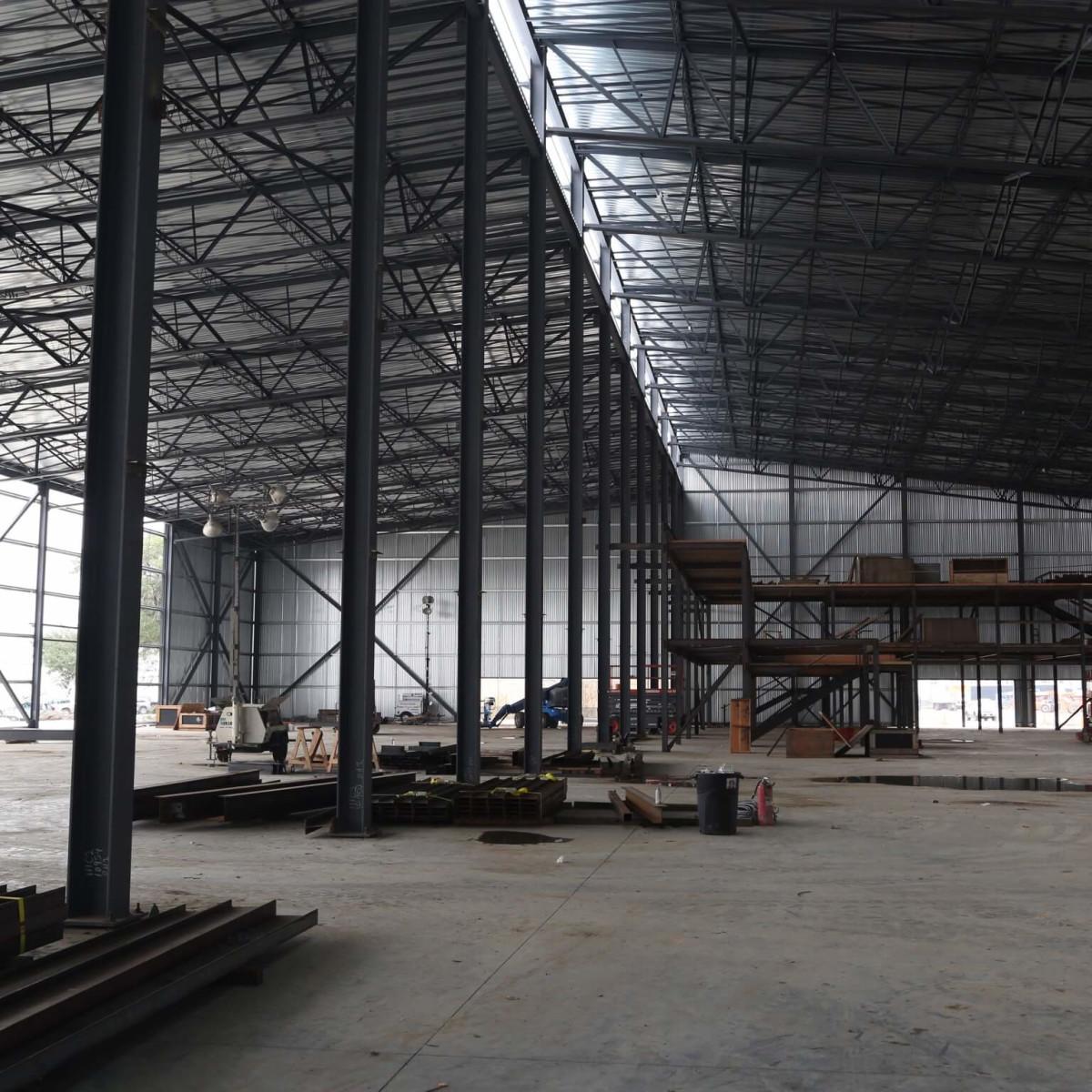 Club Nomadic construction interior