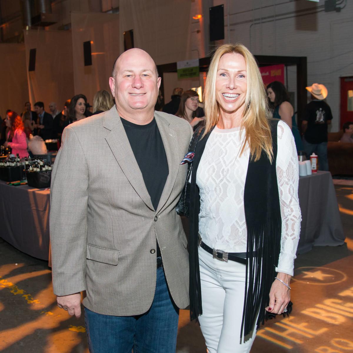 Paul Dabrowski, Mellissa Dabrowski at Big Texas Party