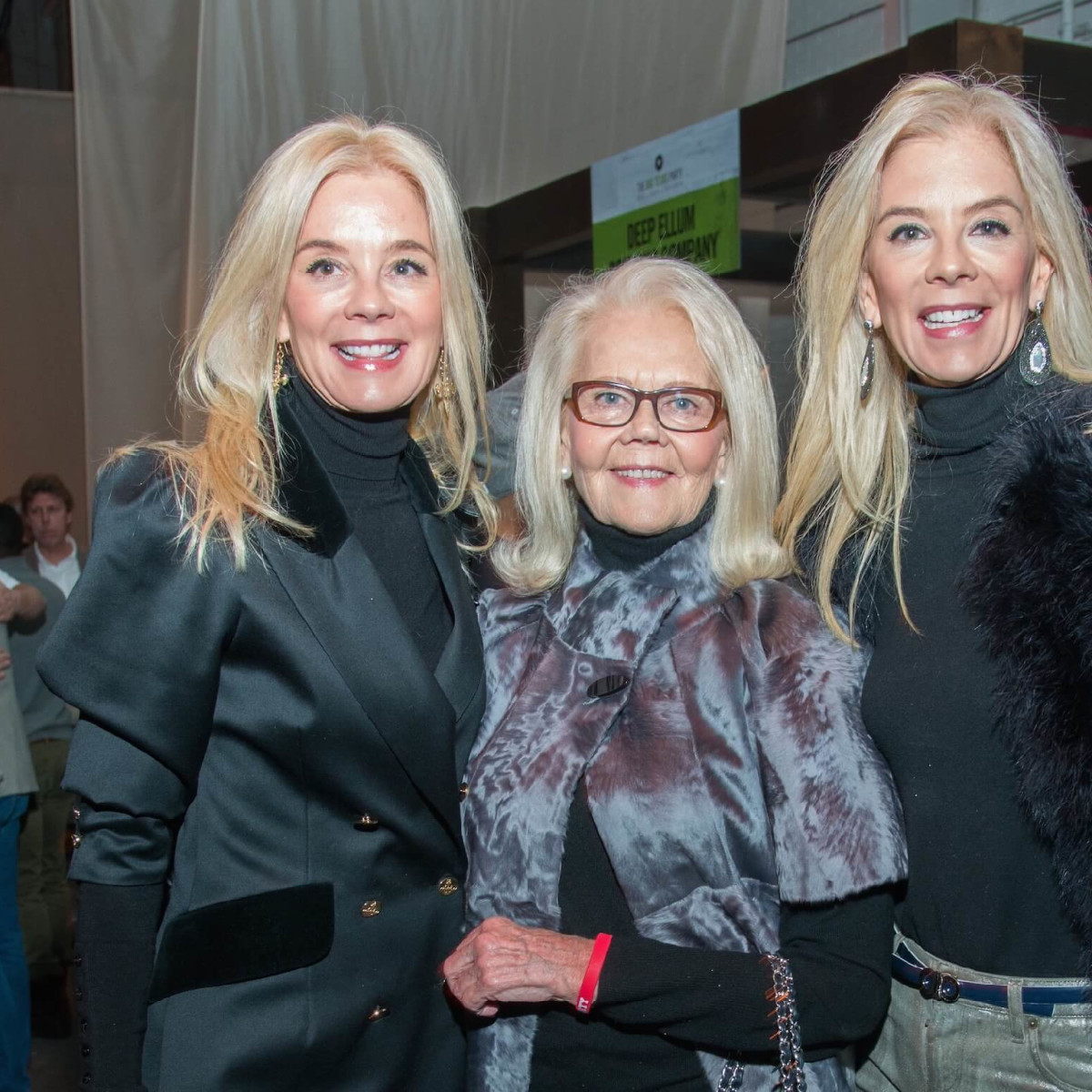 Tama Lundquist, Marge Lundquist, Tena Lundquist Faust at Big Texas Party