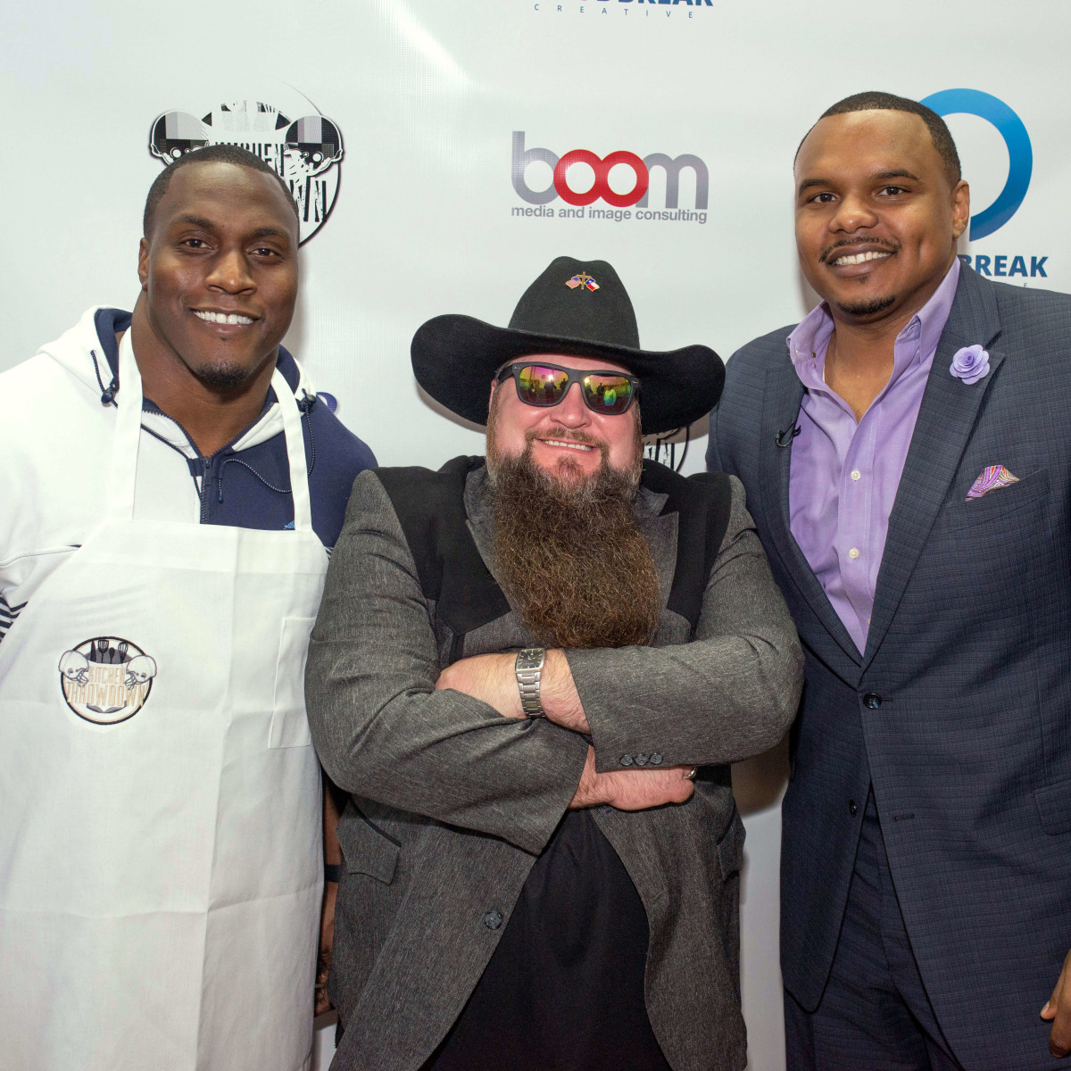 Houston, Kitchen Throwdown with Whitney Mercilus, Jan 2017, Takeo Spikes, Sundance Head, Chester Pitts