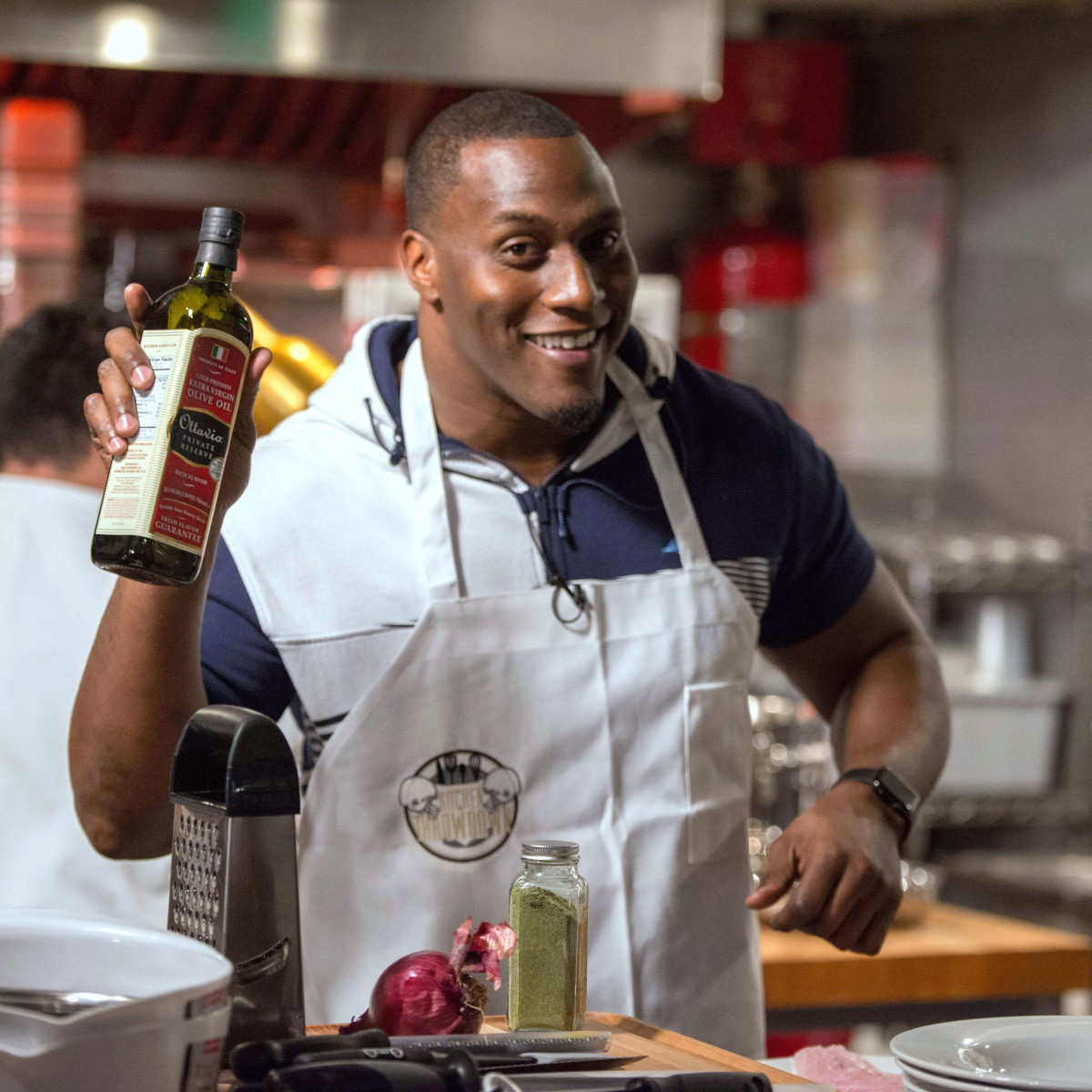 Houston, Kitchen Throwdown with Whitney Mercilus, Jan 2017, Takeo Spikes