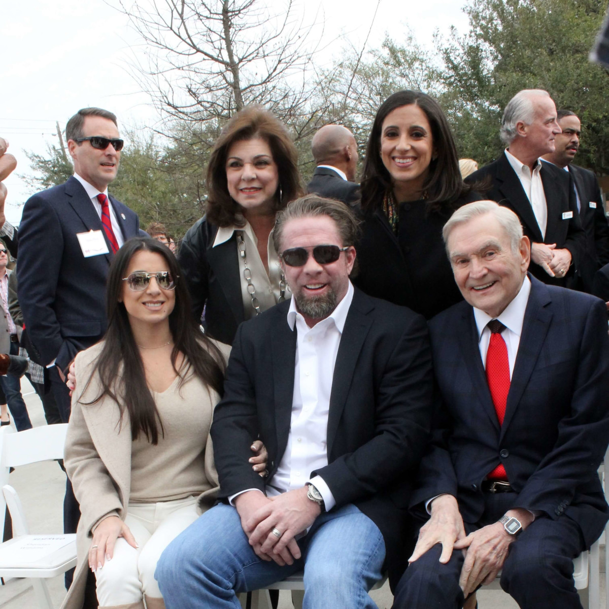 Laura Ward, Rania Mankarious, Rachael Bagwell, Jeff Bagwell, Dave Ward at dedication of new Crime Stoppers building