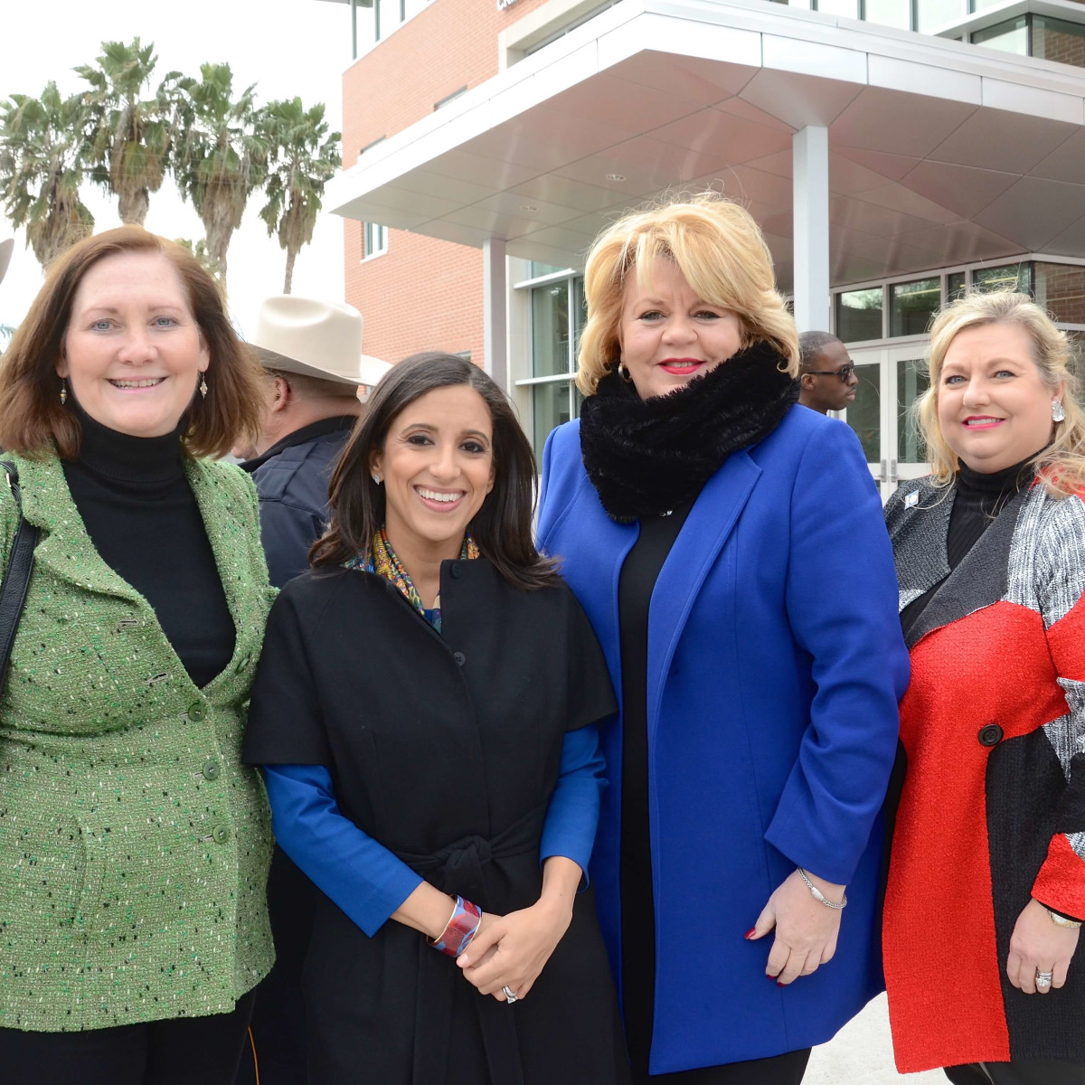 Diane Englet, Rania Mankarious, Brenda Stardig, Katrina Arnim at Crime Stoppers building dedication