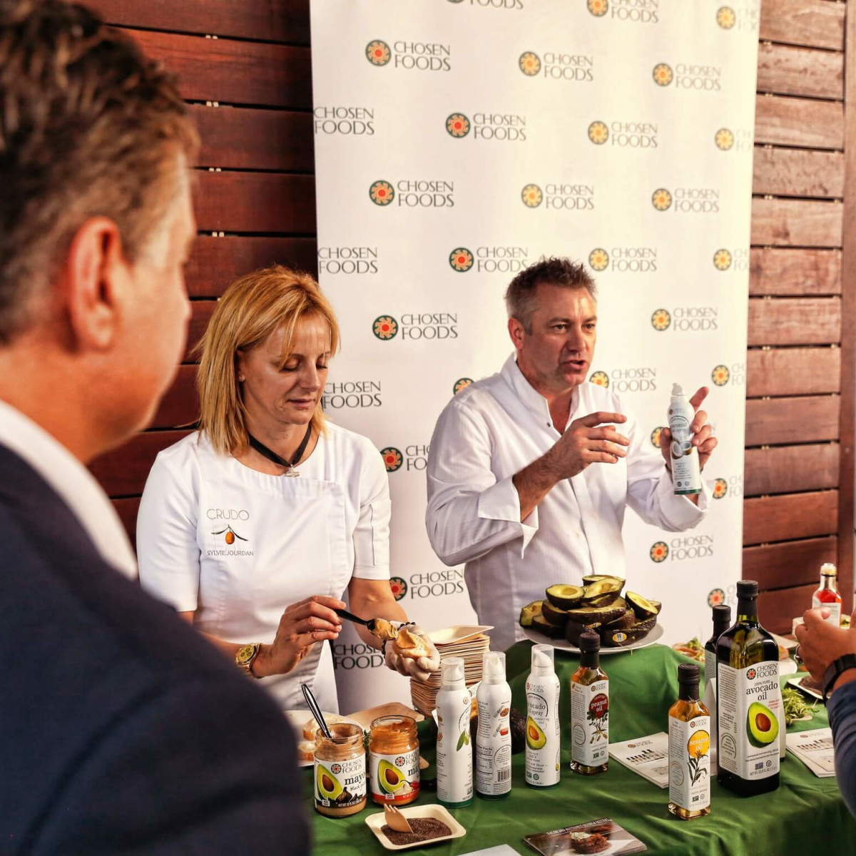 Sylvie Jourdan and Chef Pascal Lorange from Chosen Food at Avocado Bowl