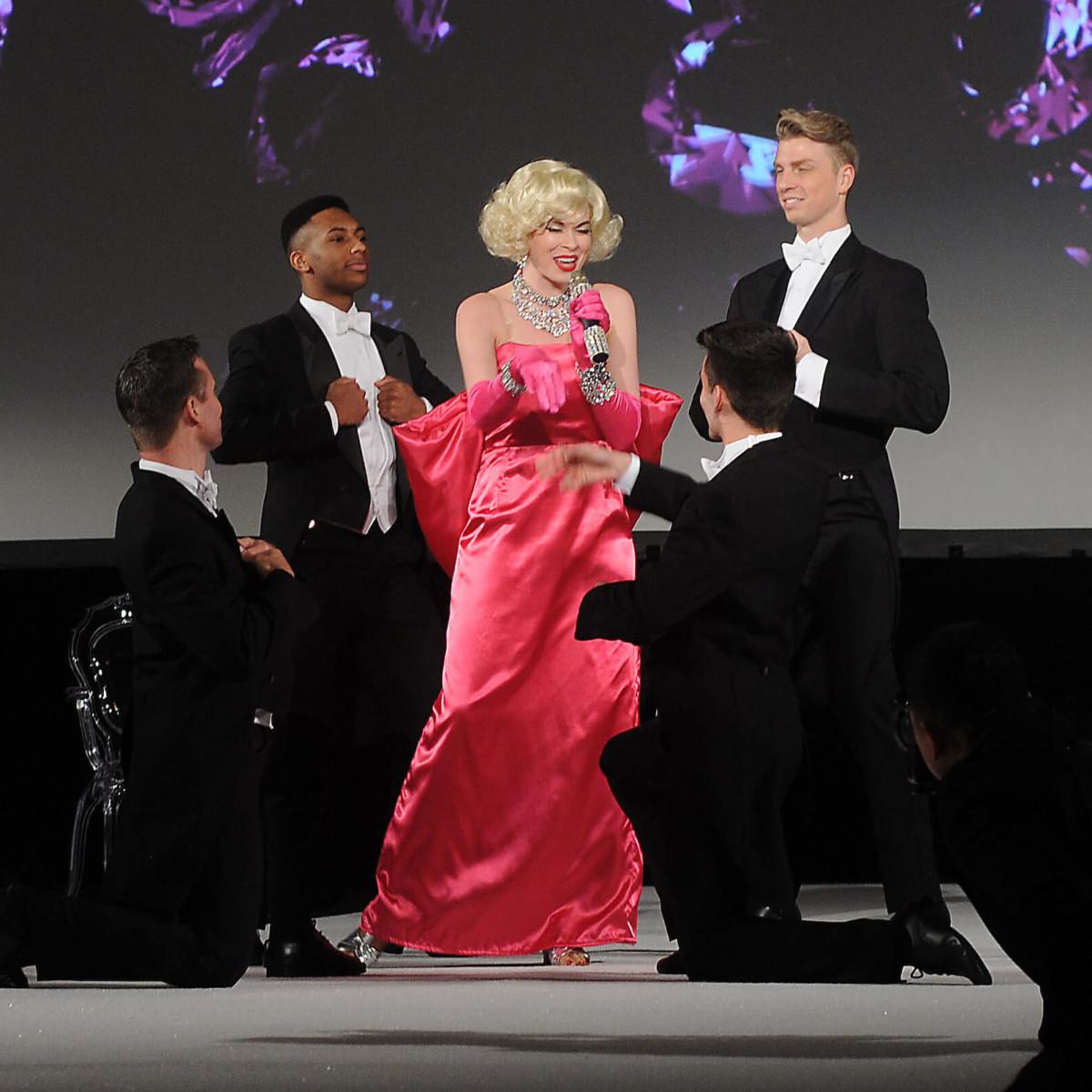 Houston, Winter Ball Women of Distinction, Feb 2017, Performance by Marilyn Monroe  impersonator