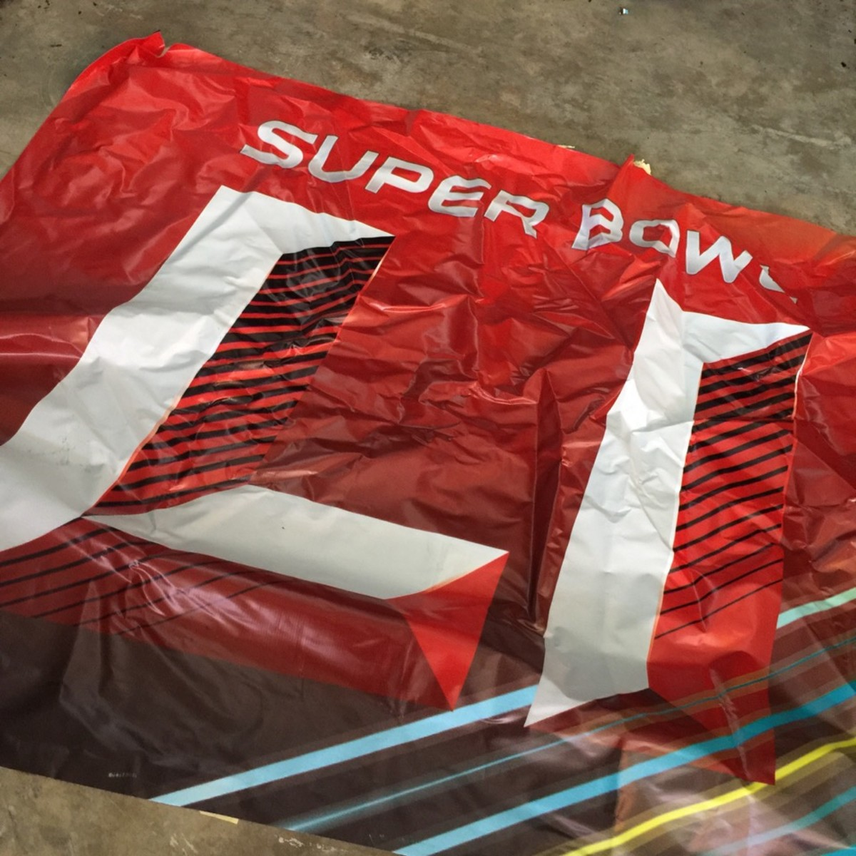 Super Bowl materials that are part of recycling program